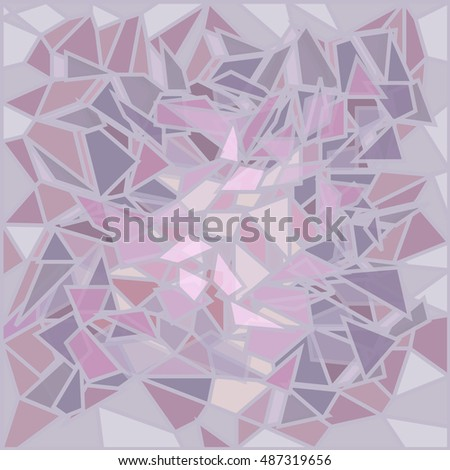 purple glass broken