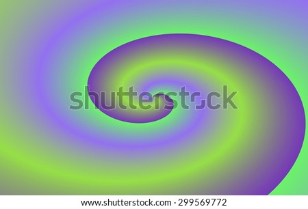 Purple green simple minimalistic spiral pattern on rectangle background in business card dimensions