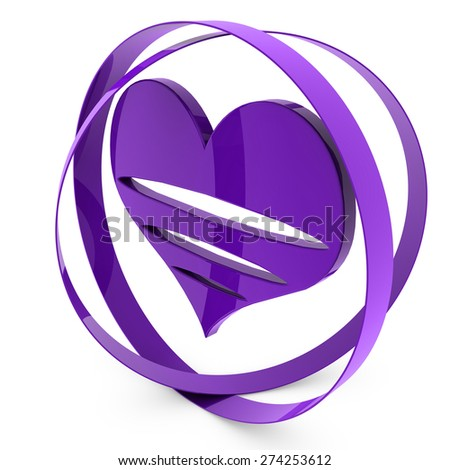 purple heart - stock photo