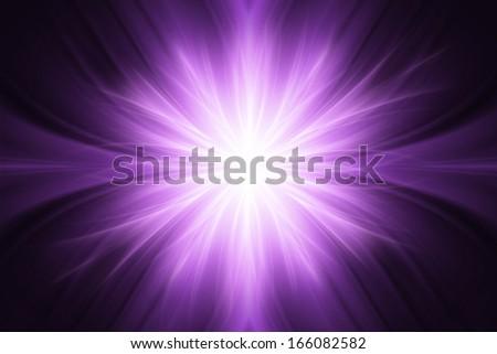 Purple luminous rays background - stock photo