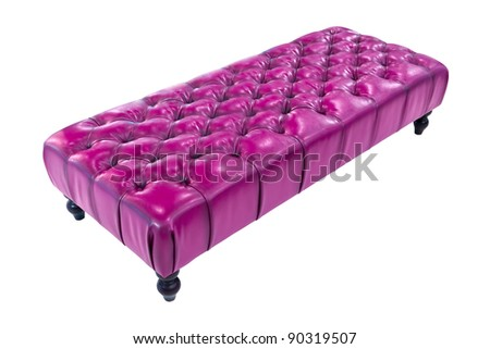 purple luxury sofa isolated with clipping path - stock photo