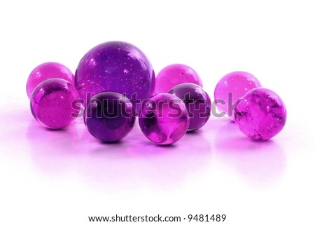 Purple Marble Group - stock photo