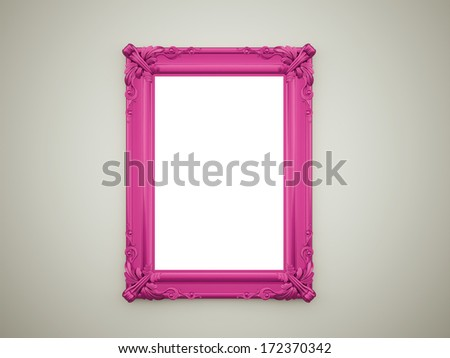 Purple mirror concept on dark wall - stock photo
