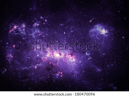 Purple Nebulae - Elements of this Image Furnished by NASA - stock photo