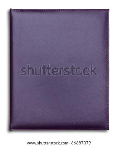 purple notebook isolated on white background - stock photo