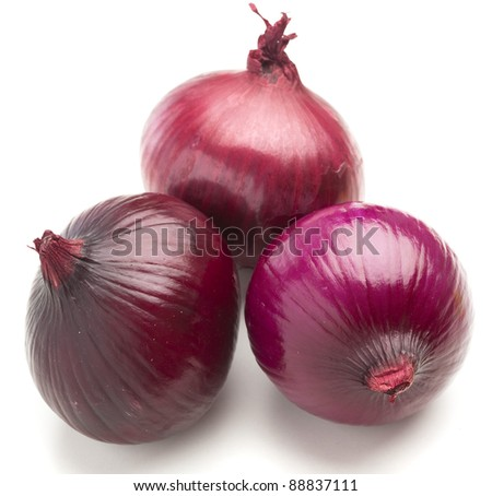 purple onions isolated on a white background