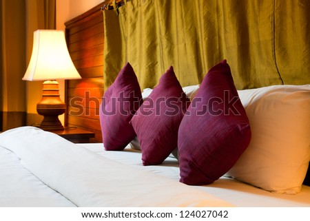 purple pillows - stock photo