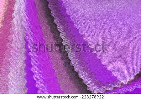 purple pink organza color selection - stock photo