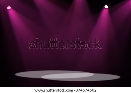 Purple&Pink stage background - stock photo