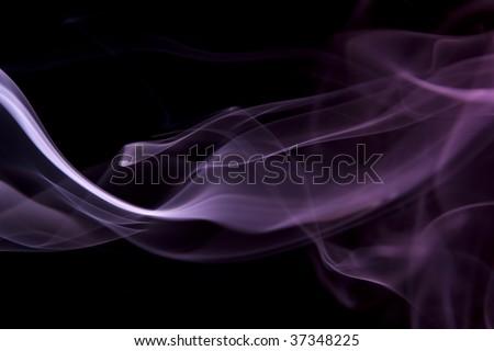 Purple Smoke Flowing - stock photo