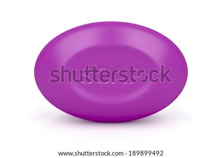 Purple soap on white background  - stock photo