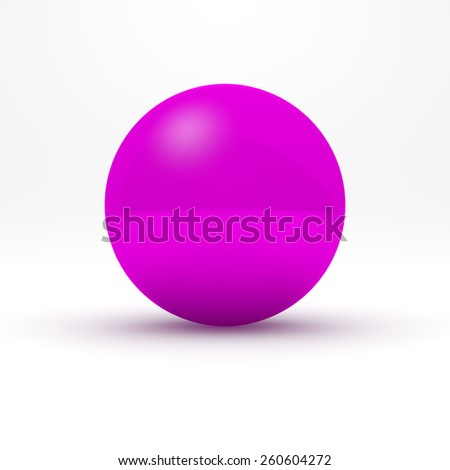 Purple sphere on white background
