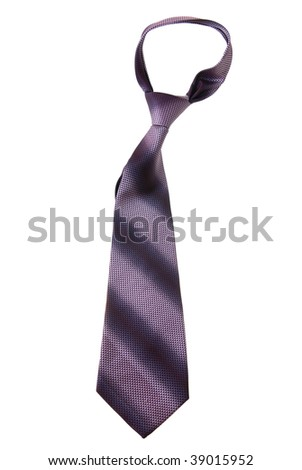Purple tie isolated on white background - stock photo