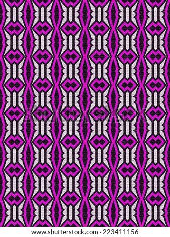 purple vintage geometric tile pattern - stock photo