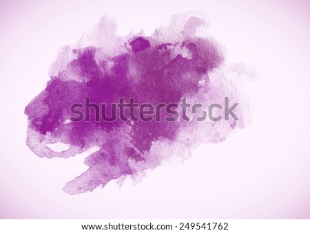 Purple Watercolor Blob for decoration and design. Posters, texture and other.  - stock photo