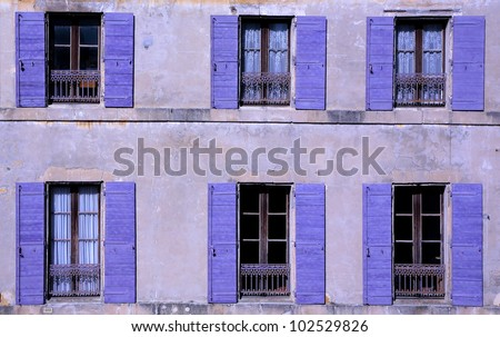 Purple Windows in Arles