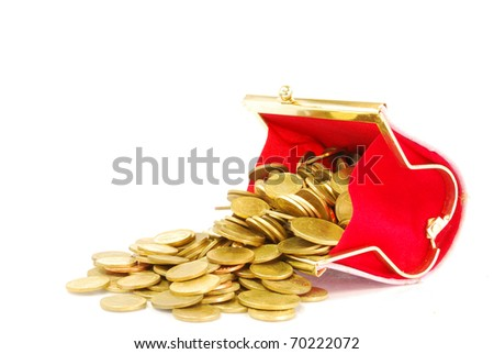 purse and gold coins