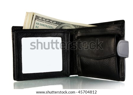 Purse with a money - stock photo
