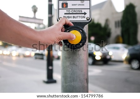 Push button to cross the street