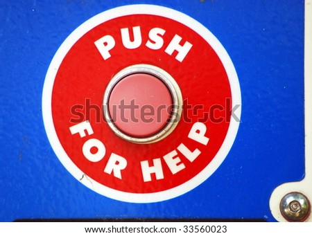 Push For Help - stock photo