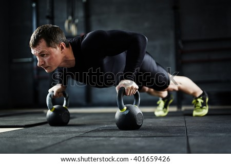 Pushing up - stock photo