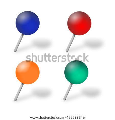 pushpin  with shadow