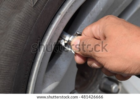 put air into the tire