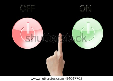 Put button on or off - stock photo