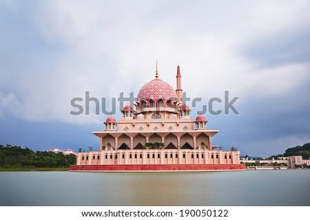 Putra Mosque in Putrajaya - Kuala Lumpur, Malaysia - stock photo