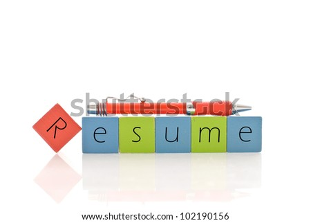 Putting Together Your Resume - stock photo