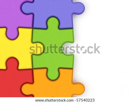 Puzzle. - stock photo