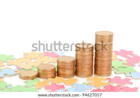 Puzzle and coins