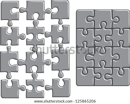Puzzle background. Raster version, vector file available in portfolio.