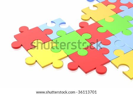 puzzle concept - stock photo