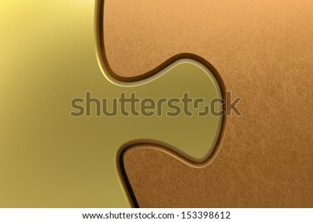 puzzle connection gold copper 3D - stock photo