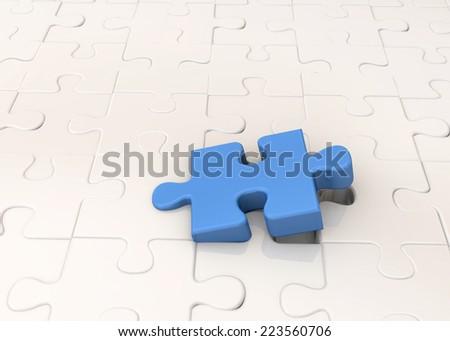 Puzzle - 3D - stock photo