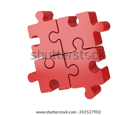 Puzzle 3D business solutions - stock photo
