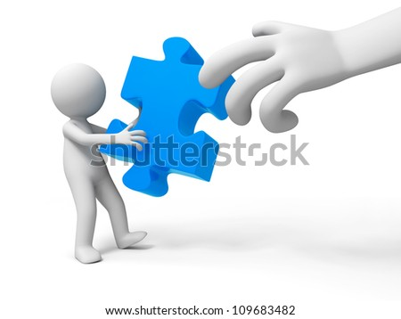 puzzle/jigsaw/A people is holding a jigsaw
