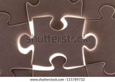 puzzle piece - stock photo