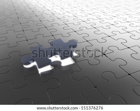 Puzzle piece - stock photo