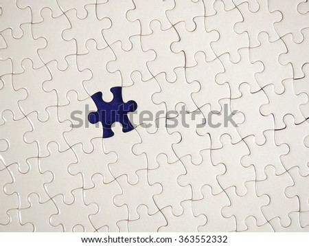 Puzzle piece background.  Close-up. - stock photo