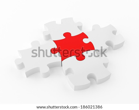 Puzzle Solution - stock photo