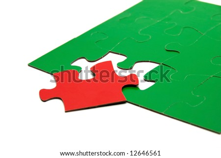 Puzzle strategies - stock photo