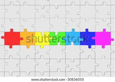 Puzzle structure - stock photo
