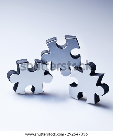 Puzzle, Teamwork, Jigsaw Puzzle. - stock photo