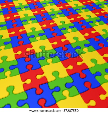 Puzzle texture1. 3d rendering image.