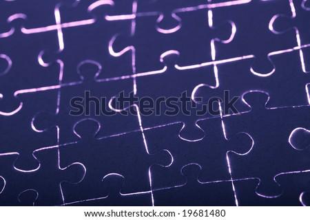 puzzle with burning edges - stock photo
