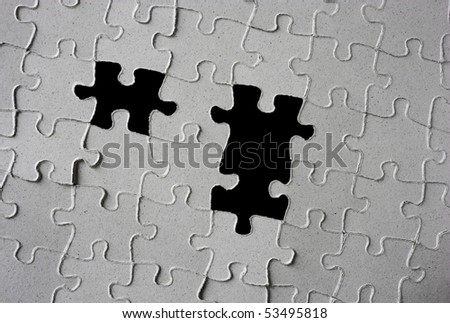 puzzle  with few pieces missing