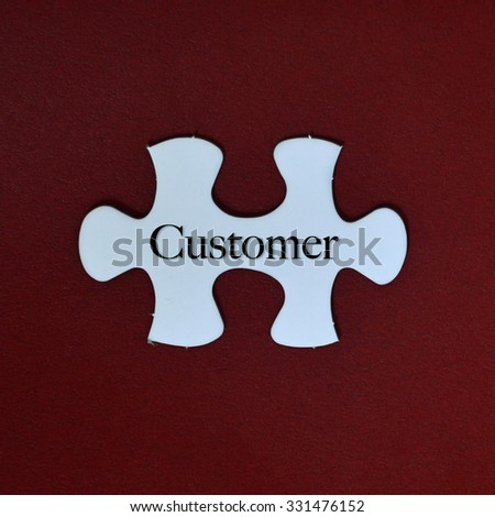 Puzzle With Word Customer. - stock photo