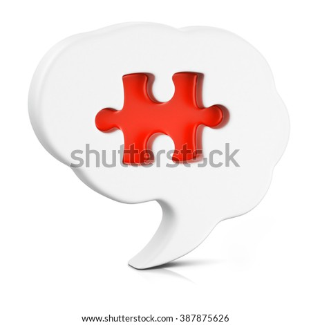 Puzzled brain representing solutions and creativity with a missing piece of the puzzle - stock photo
